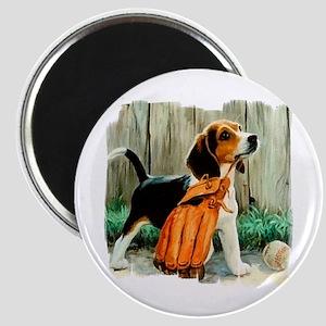 Beagle & Baseball 2 Magnet