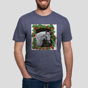 BonaFaceBridled2Christmas b Mens Tri-blend T-Shirt