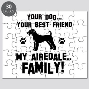 Airedale terrier dog breed designs Puzzle