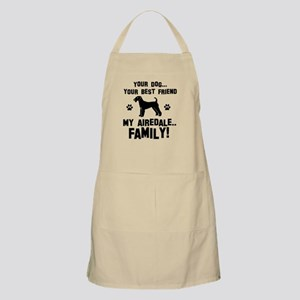 Airedale terrier dog breed designs Apron