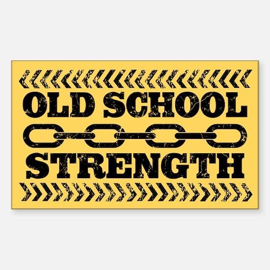 Old School Strength Sticker (Rectangle)