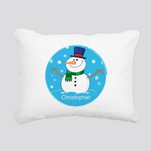 Cute Personalized Snowman Xmas gift Rectangular Ca