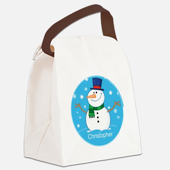 Cute Personalized Snowman Xmas gift Canvas Lunch B