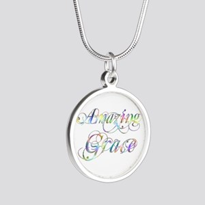 Amazing Grace Silver Round Necklace