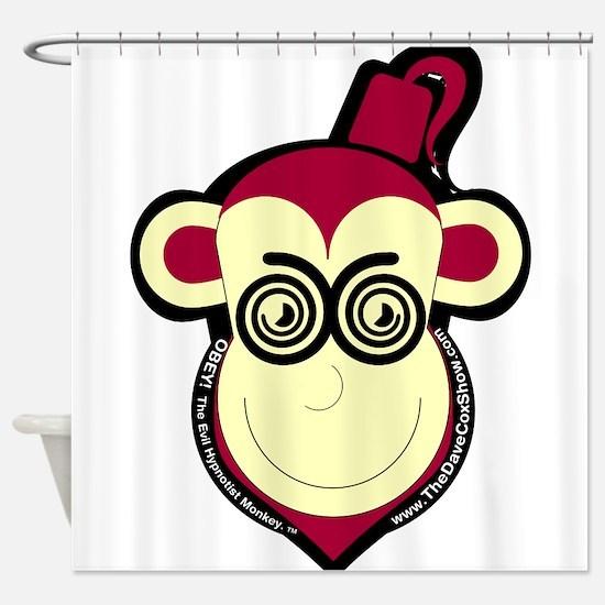 Evil Hypnotist Monkey Logo Shower Curtain