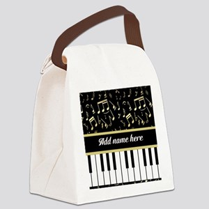 Personalized Piano and musical notes Canvas Lunch