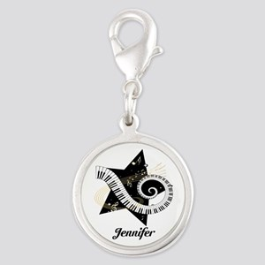 musicaldesign Silver Round Charm