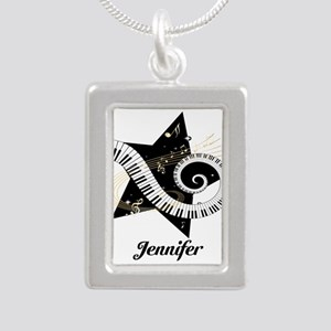 musicaldesign Silver Portrait Necklace
