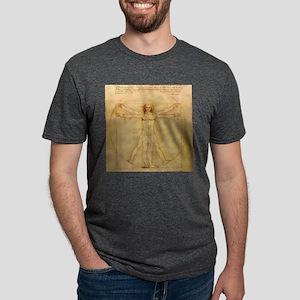 Vitruvian Man Mens Tri-blend T-Shirt