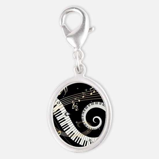 musicgiftsquare.jpg Silver Oval Charm