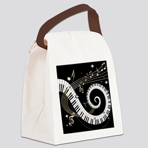 musicgiftsquare Canvas Lunch Bag