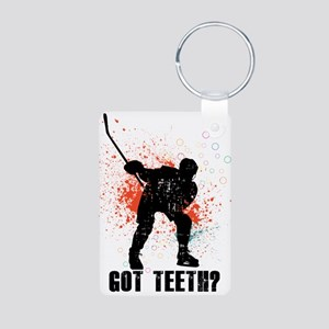 Got teeth? Aluminum Photo Keychain