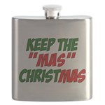 Keep The MAS in Christmas Flask