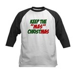 Keep The MAS in Christmas Kids Baseball Jersey