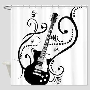 guitarwaves2 Shower Curtain