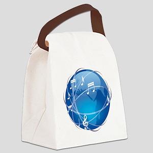 worldmusicdesign Canvas Lunch Bag