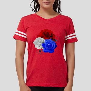 Patriotic Flowers Womens Football Shirt
