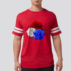 Patriotic Flowers Mens Football Shirt