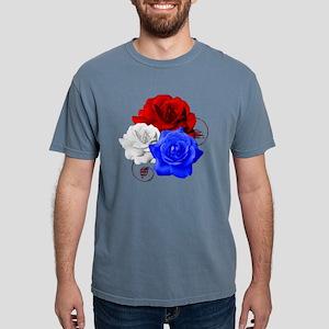 Patriotic Flowers Mens Comfort Colors Shirt