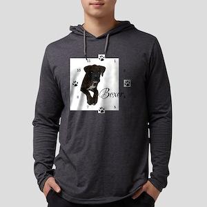 Boxer Clock Mens Hooded Shirt