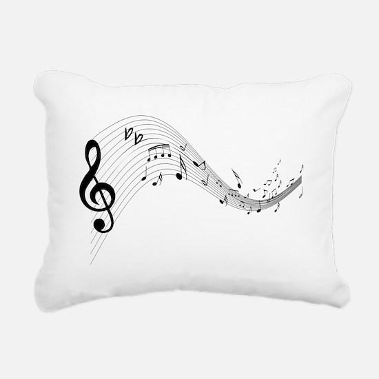 musicnotes4.png Rectangular Canvas Pillow