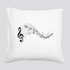 musicnotes4 Square Canvas Pillow
