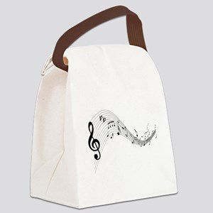 musicnotes4 Canvas Lunch Bag