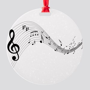 musicnotes4 Round Ornament