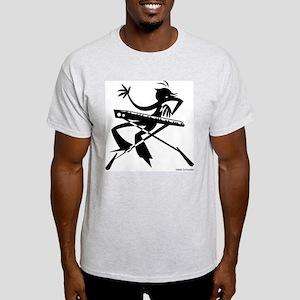 Ash Grey Keyboard T/Larger Image on Back T-Shirt