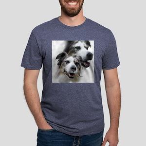 australianshep head shirtno Mens Tri-blend T-Shirt