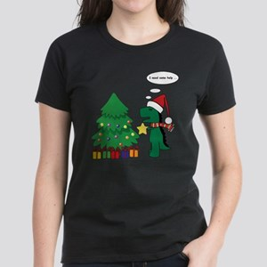 T-rex hates Christmas Women's Dark T-Shirt