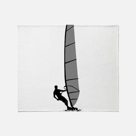 Windsurfing Throw Blanket