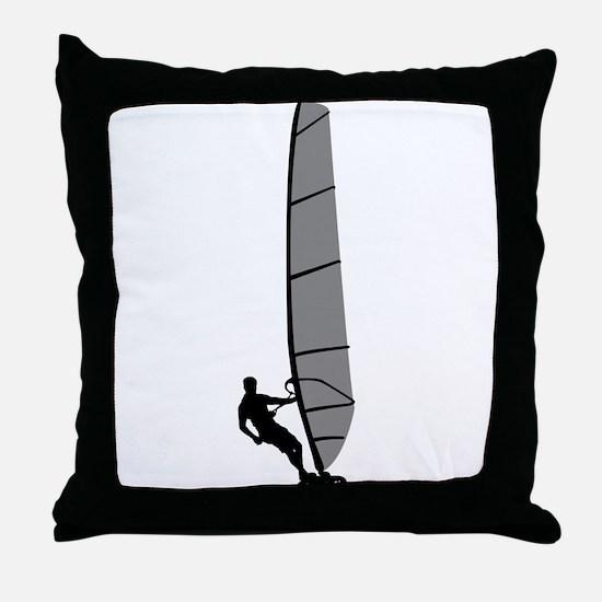 Windsurfing Throw Pillow