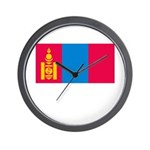 Mongolia Flag Picture Wall Clock