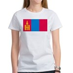 Mongolia Flag Picture Women's T-Shirt