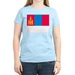 Mongolia Flag Picture Women's Pink T-Shirt