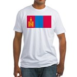 Mongolia Flag Picture Fitted T-Shirt