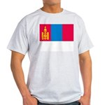 Mongolia Flag Picture Ash Grey T-Shirt