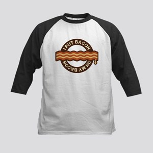 I put bacon on my bacon Kids Baseball Jersey