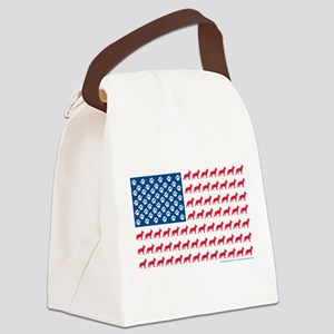 Patriotic German Shepherd Canvas Lunch Bag