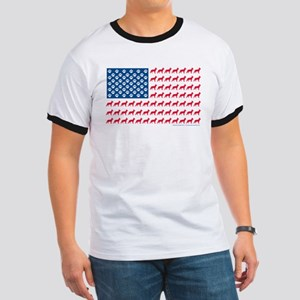 Patriotic German Shepherd Ringer T