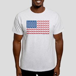 Patriotic German Shepherd Light T-Shirt