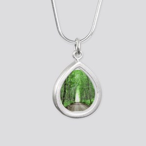 Cathedral Road Silver Teardrop Necklace