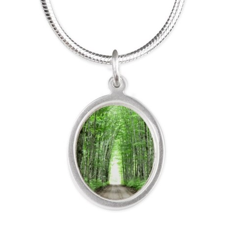 Cathedral Road Silver Oval Necklace