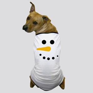 Snow Man Face - Snowman Face - Carrot Coal Dog T-S