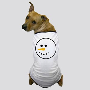 Snow Man Head Round Dog T-Shirt