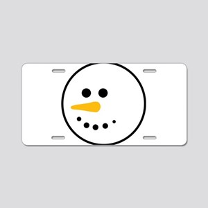 Snow Man Head Round Aluminum License Plate