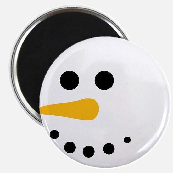 "Snow Man Head Round 2.25"" Magnet (10 pack)"