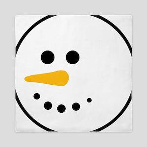 Snow Man Head Round Queen Duvet