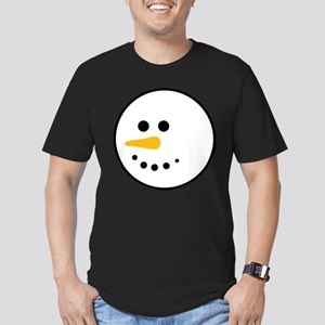 Snow Man Head Round Men's Fitted T-Shirt (dark)
